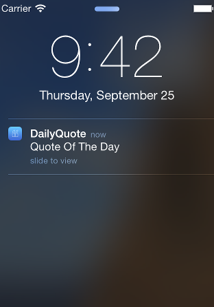 DailyQuote Notification
